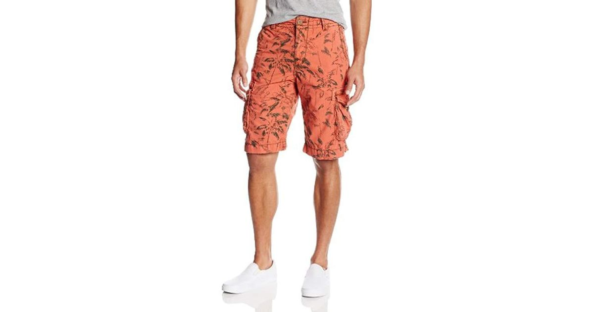 7ca1789ee2 True Religion Expedition Big-t Palm-printed Cargo Short In Coral in Orange  for Men - Lyst
