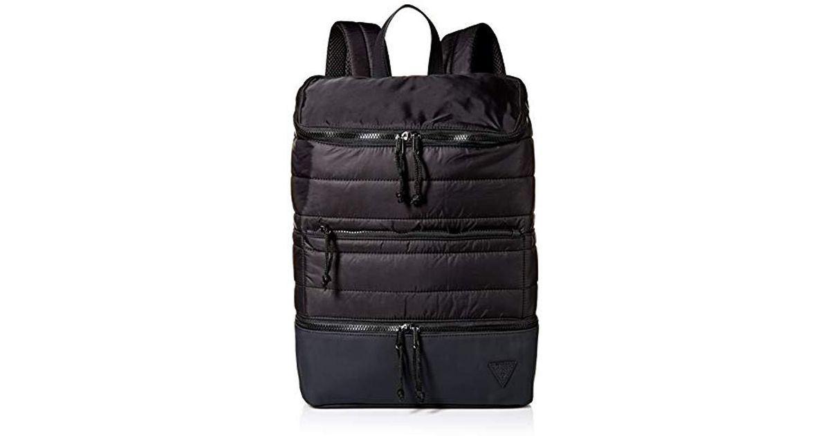 0181da281 Guess Windchill Quilted Backpack in Black for Men - Save 31% - Lyst