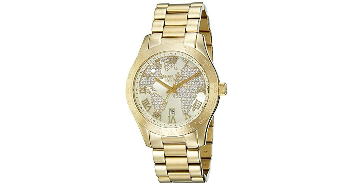 1e556a9ecabe Lyst - Michael Kors Watches Layton Chronograph Watch (gold) in Metallic -  Save 57%