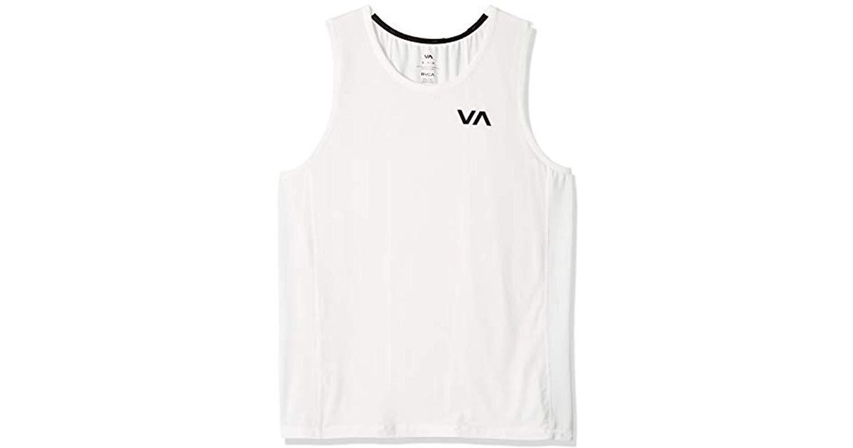 5a24c91225bd83 RVCA Va Vent Sleeveless Tank Top in White for Men - Lyst