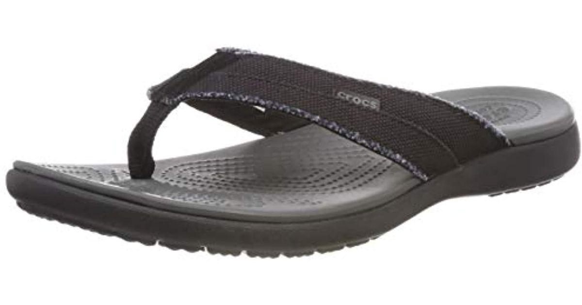 30c649ca1 Lyst - Crocs™ Santa Cruz Canvas Flip Flop in Gray for Men - Save 3%