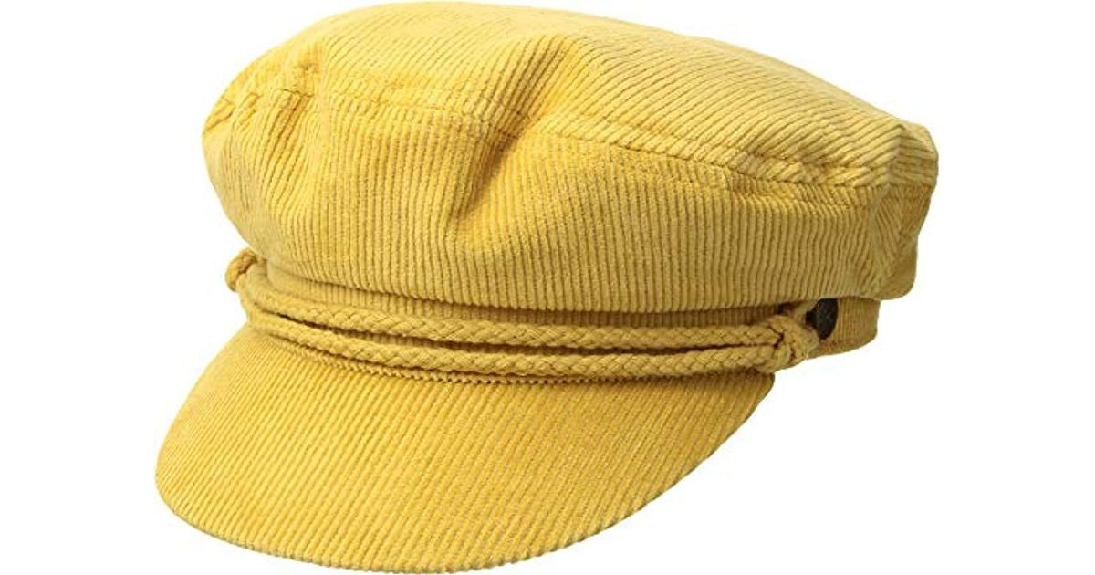 Lyst - Brixton Ashland Greek Fisherman Hat in Yellow for Men - Save 17% 7955f1af5a9