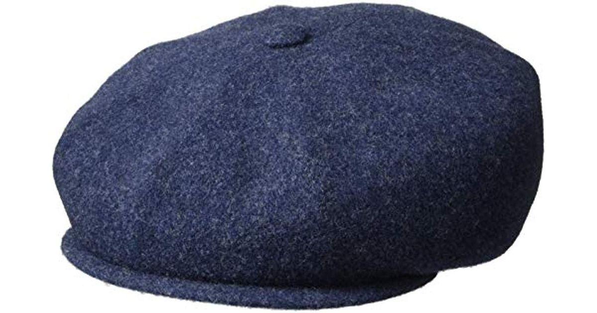 28e54902e73e6 Kangol Wool Hawker Flat Newsboy Cap Hat in Blue for Men - Lyst