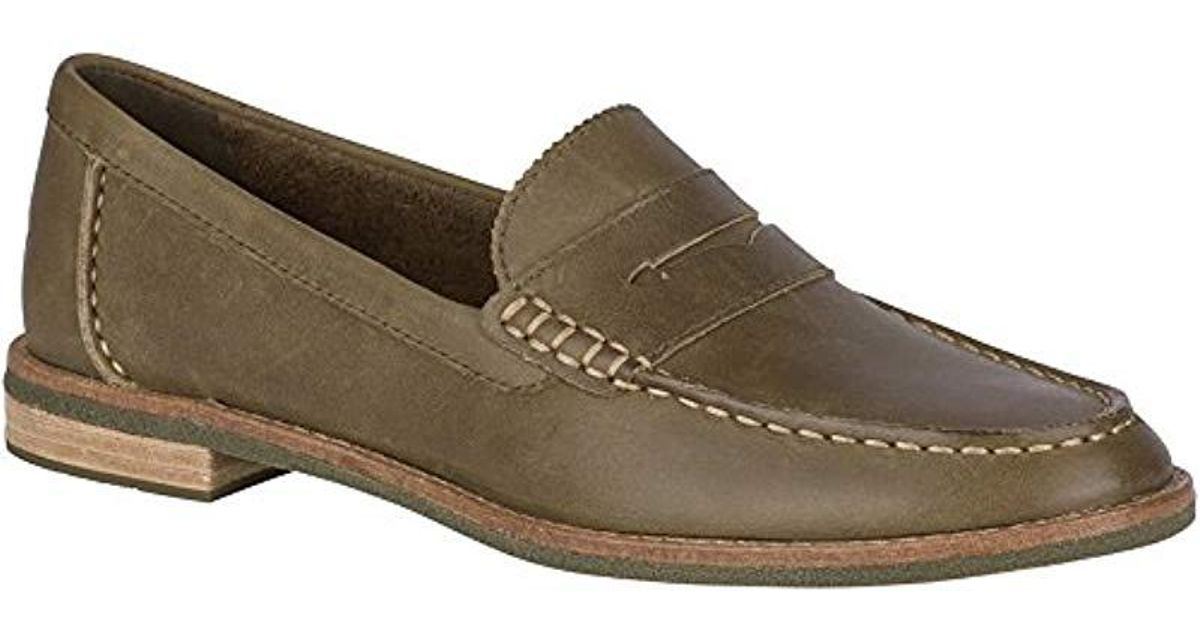 cea6051d008 Lyst - Sperry Top-Sider Seaport Penny Memory Foam Loafers in Green - Save 49 %