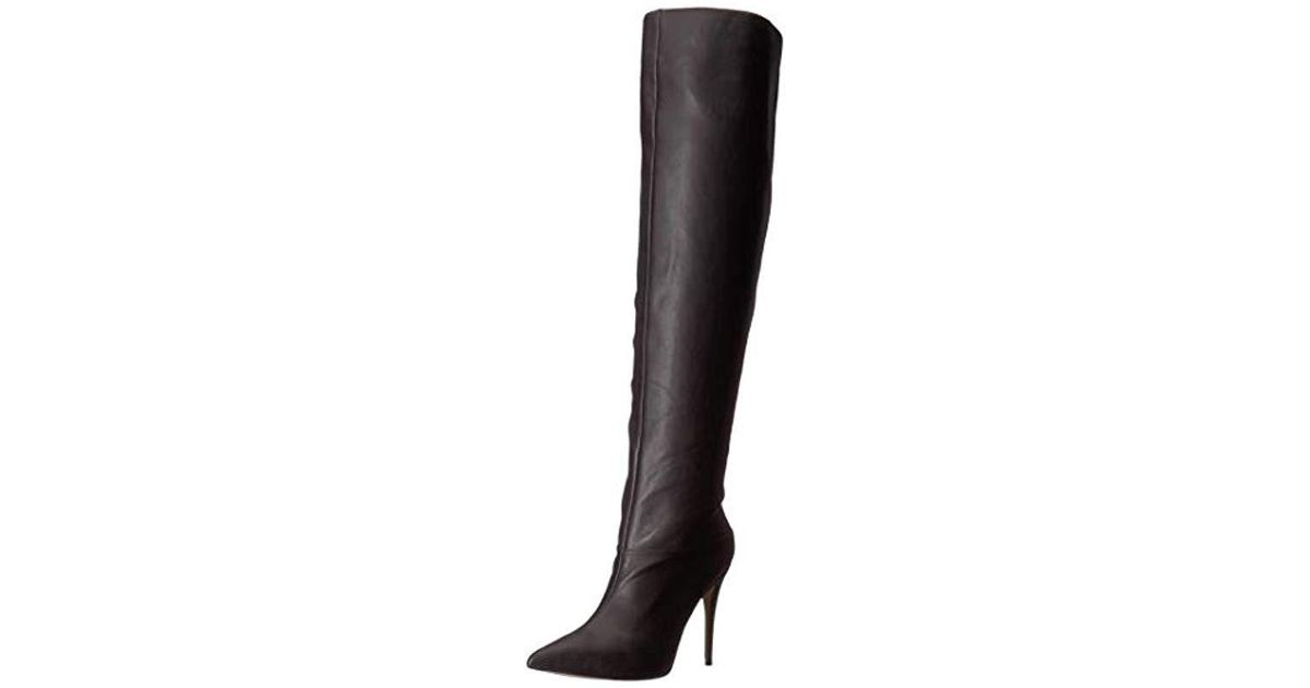 70cf9af74a5 Lyst - Guess Orianna Pointed Over-the-knee Boots in Black