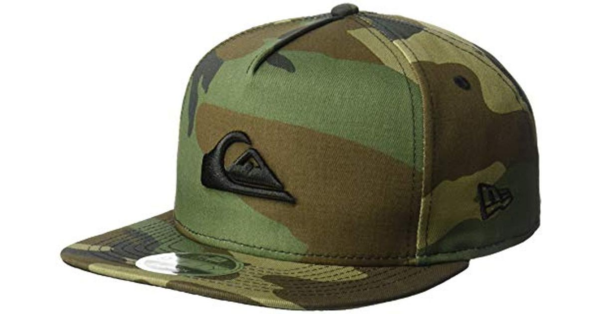 0591b0b8eab872 Lyst - Quiksilver Stuckles Snap Trucker Hat in Green for Men