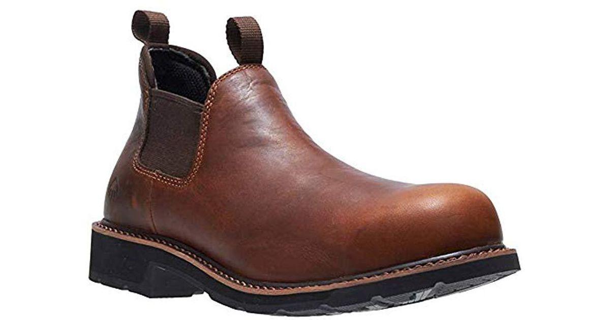 52f79ddb80f Wolverine - Brown Ranchero Romeo Steel Toe Industrial Shoe for Men - Lyst