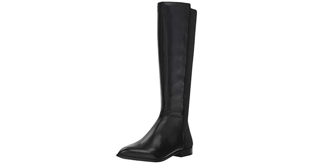 ec732aa85ded Lyst - Nine West Owenford Leather Knee High Boot in Black - Save 55%