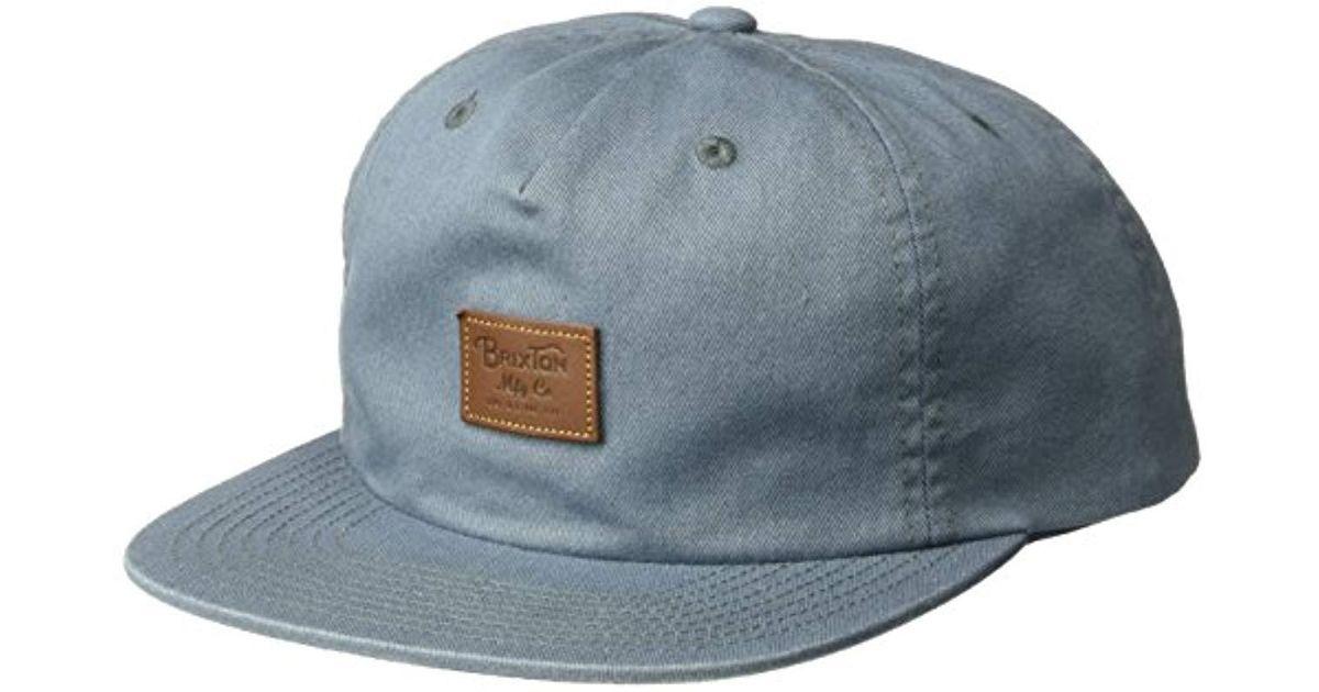 679ce43bd2a Lyst - Brixton Grade Ii Medium Profile Adjustable Unstructured Snapback Hat  in Blue for Men