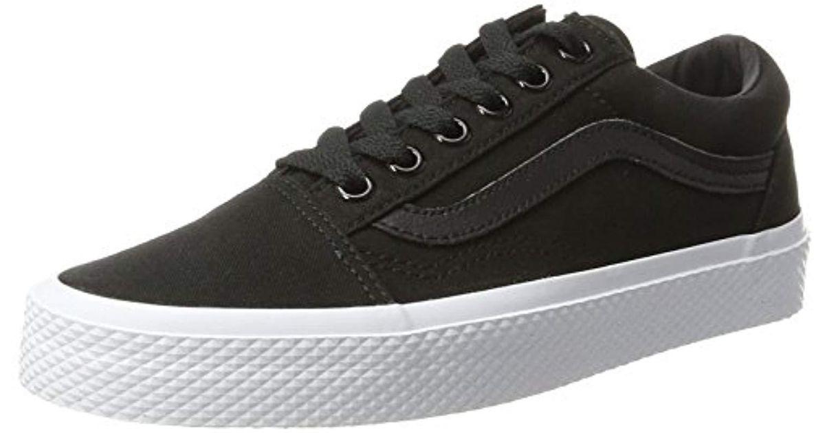 89b2ab0442 Lyst - Vans Unisex Old Skool Classic Skate Shoes in Black