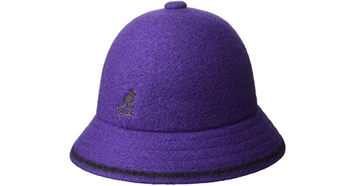 a837f224ee725 Kangol Stripe Casual Bucket Hat in Purple for Men - Lyst