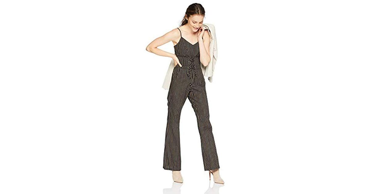 3545601a4260 Lyst - Cupcakes And Cashmere Jaiden Striped Corset Jumpsuit