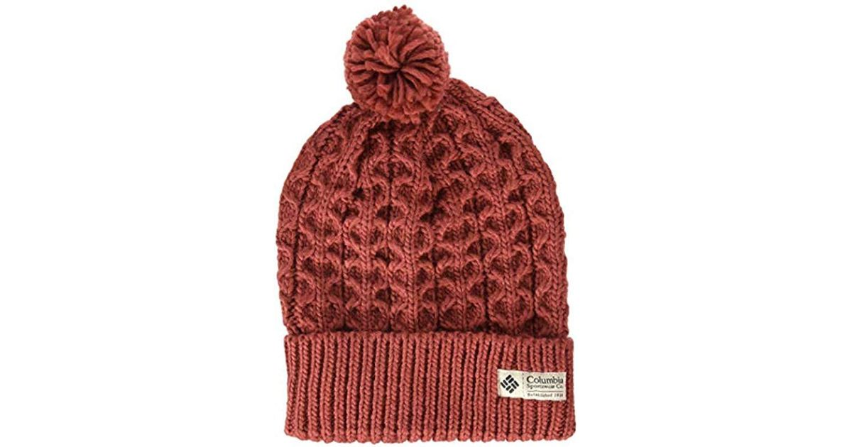 cf8acb20eb26f1 Columbia Hideaway Haven Beanie in Red - Lyst