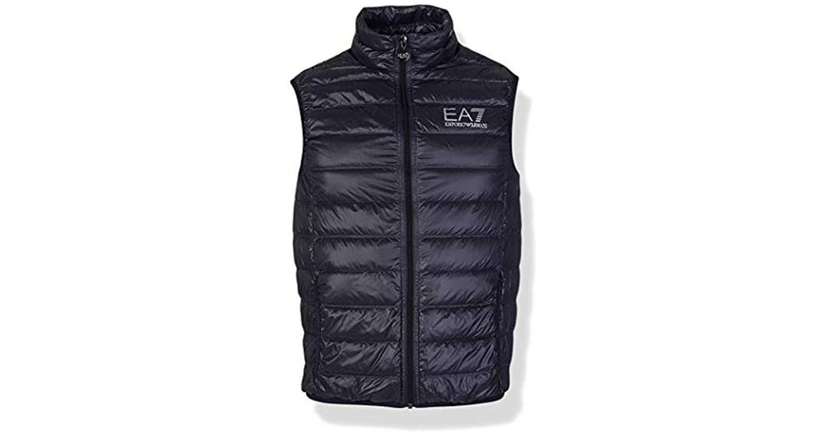 Train Men Core Emporio Down For Blue Lyst Vest Armani I2YW9EDH