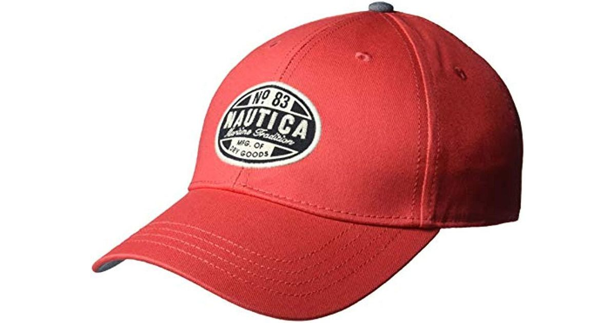0e8a20d645cbc6 Lyst - Nautica Twill Adjustable Baseball Cap Hat, Rose Coral One Size for  Men