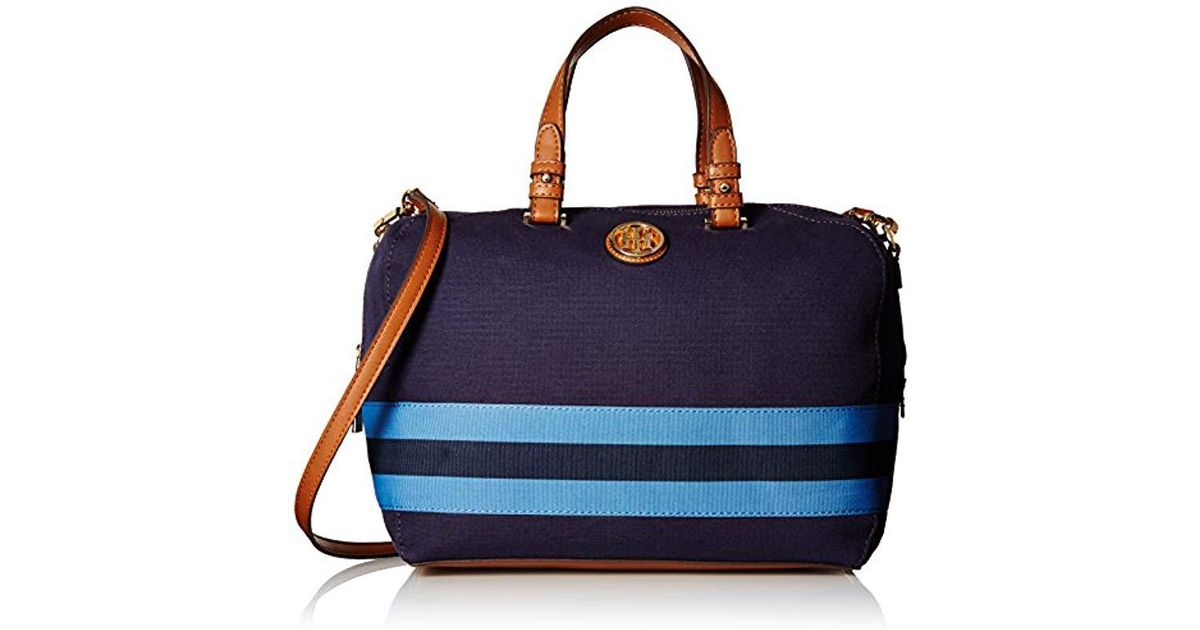 fc592a5f Tommy Hilfiger Clara Convertible Satchel Bag in Blue - Lyst