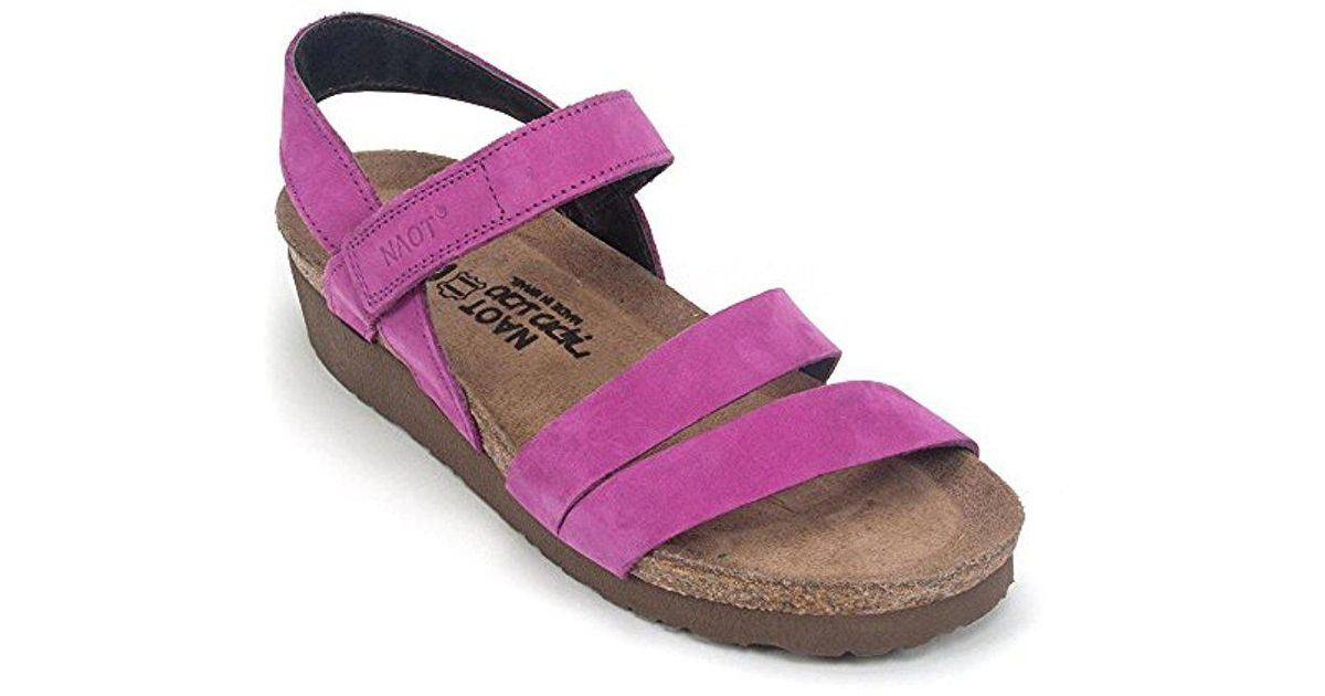 215bf8d96481 Lyst - Naot Kayla Wedge Sandal in Pink