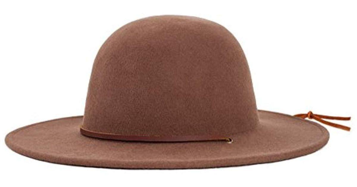 2843f0d7 ... discount code for lyst brixton tiller wide brim felt fedora hat in  brown for men fc19e