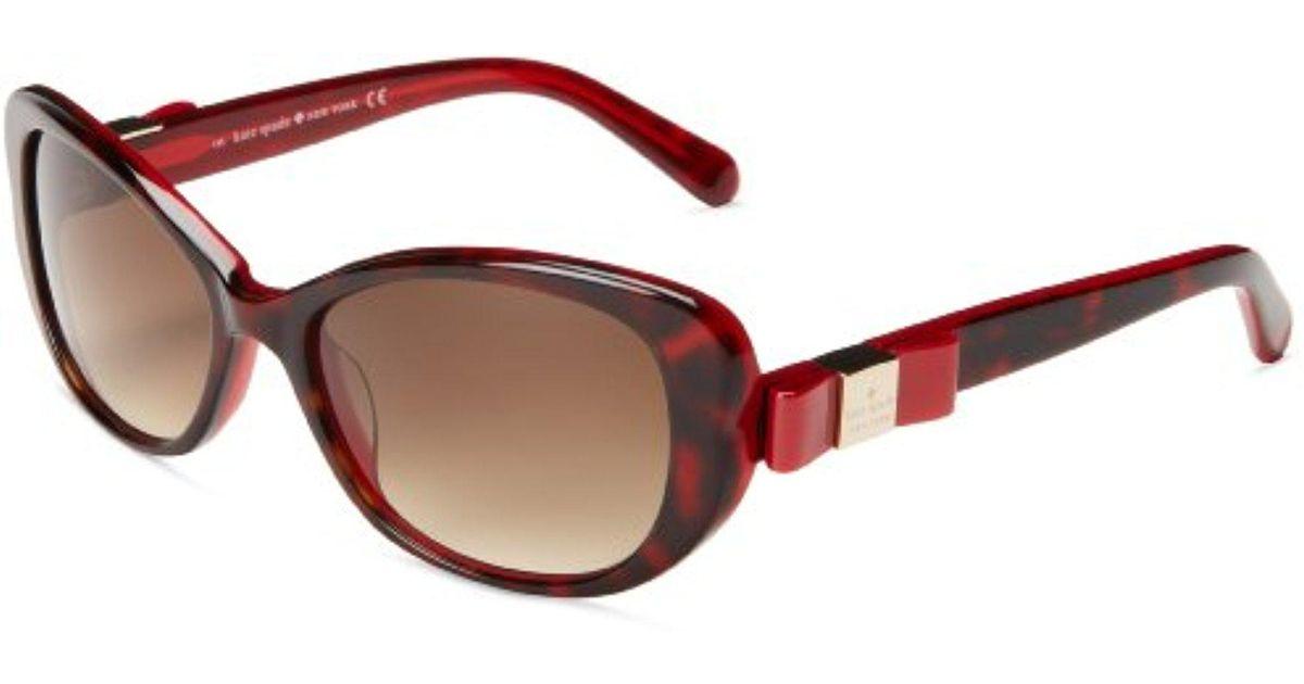 dfa45139f6 Lyst - Kate Spade Chands Cat-eye Sunglasses in Red