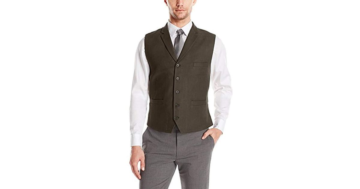 Lyst - Greg Norman Vest In Solids With Lapels-adjustable Back Buckle With  Fashion Lining in Green for Men 789eaa4c558