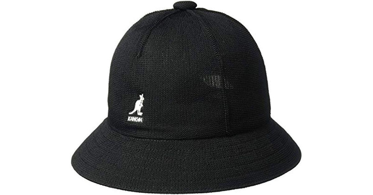 dd9358687 Kangol - Black Tropic Casual Bucket Hat Wit Seam Details for Men - Lyst
