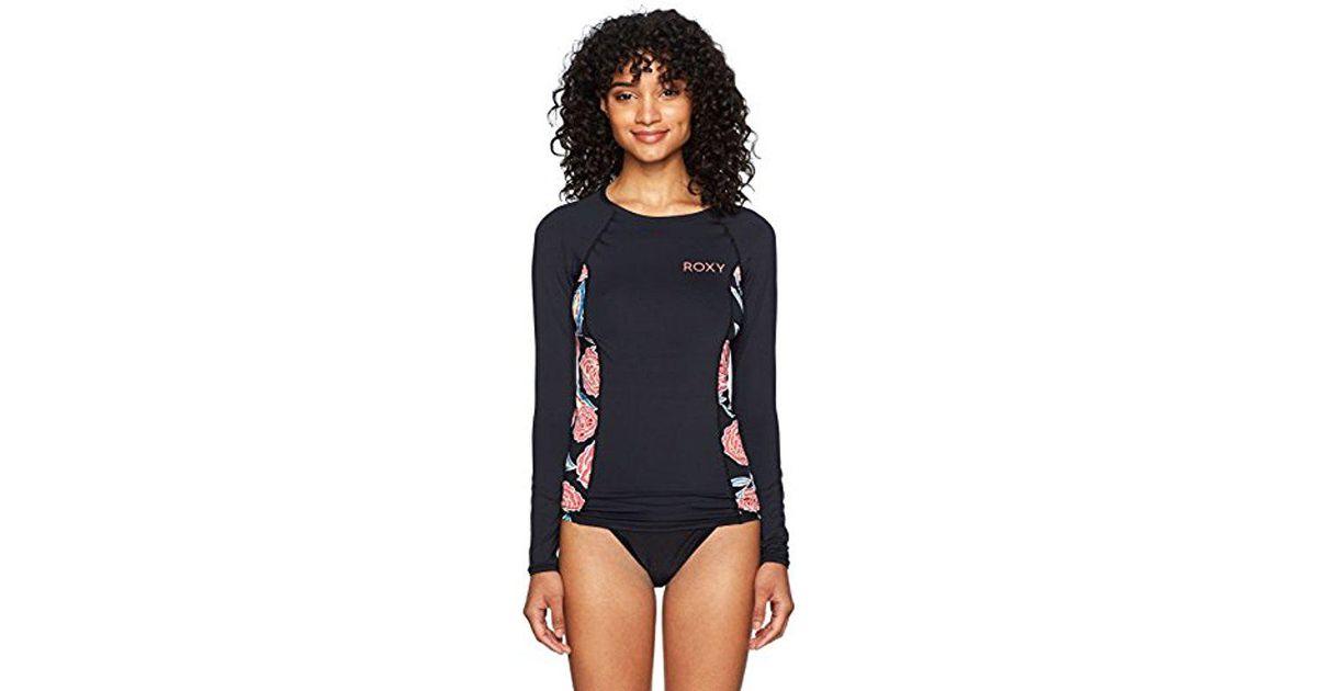 05ae62d6db Lyst - Roxy Softly Love Fashion Long Sleeve Swim Rashguard in Blue - Save 9%