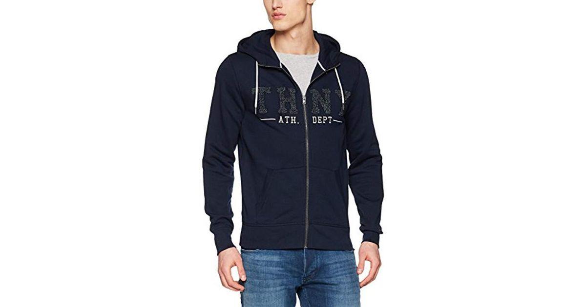 cc2df687f5e80 Tommy Hilfiger Banker Hdd Z-thru L s Sweat Jacket in Blue for Men - Lyst