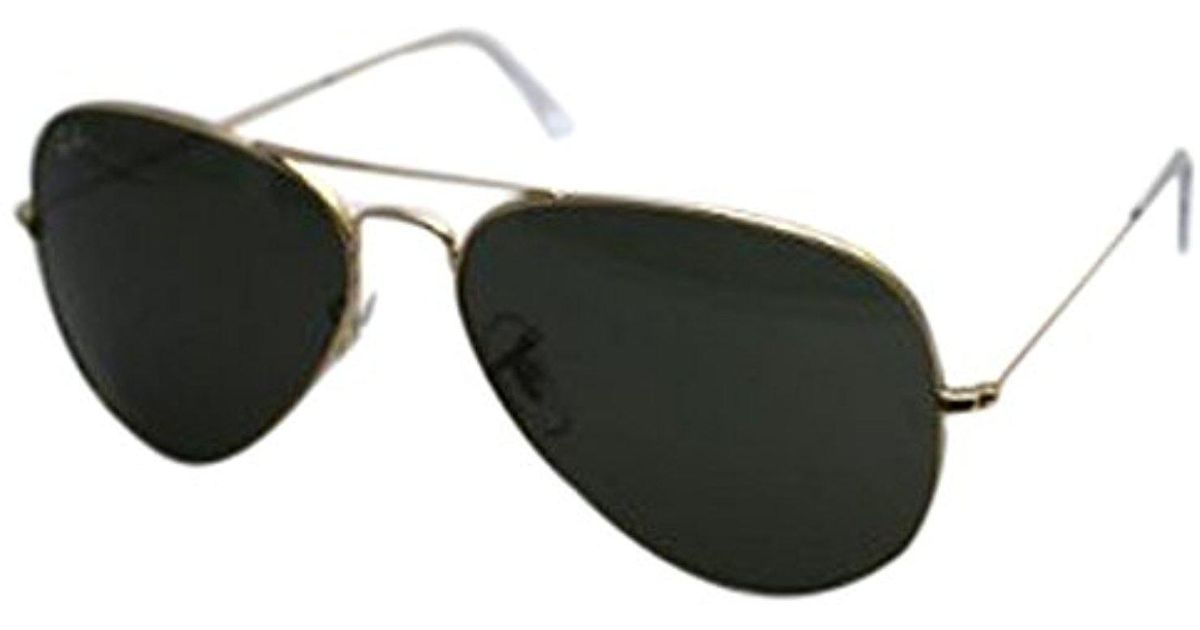 8acbef935627 Lyst - Ray-Ban 3025 Aviator Large Metal Non-mirrored Non-polarized  Sunglasses in Green for Men