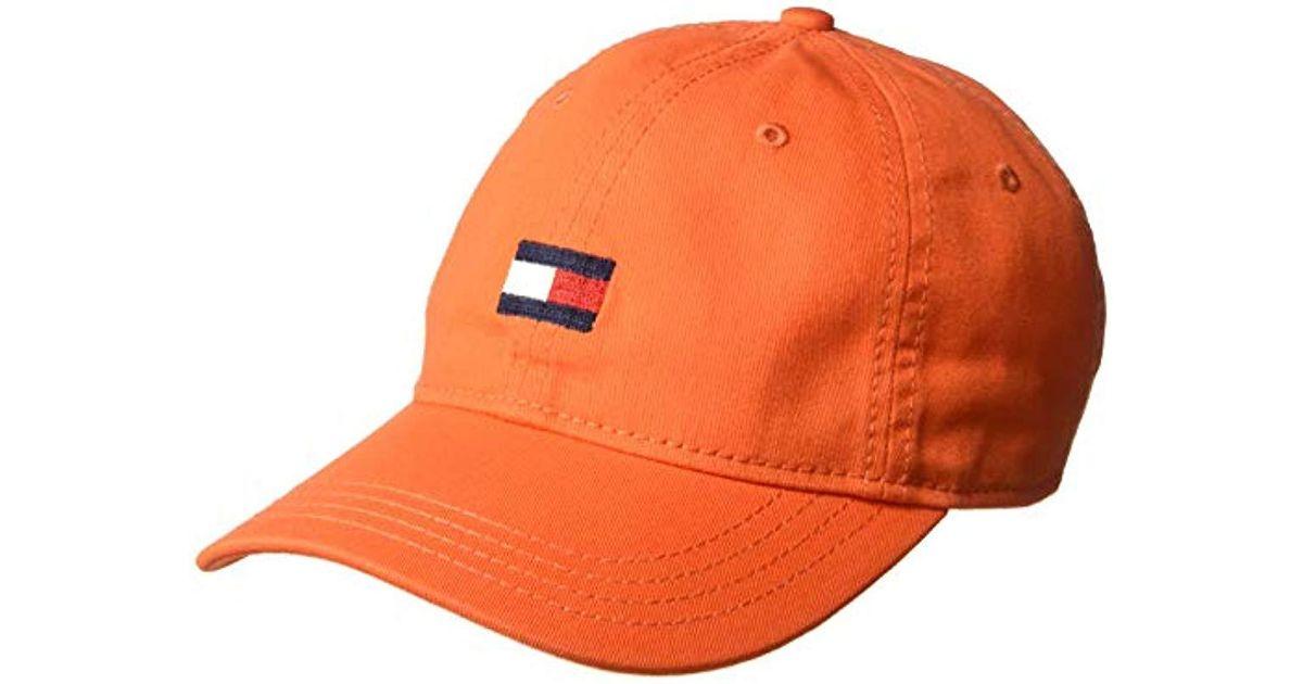 Lyst - Tommy Hilfiger Ardin Dad Hat in Orange for Men 0d038d2bcef6