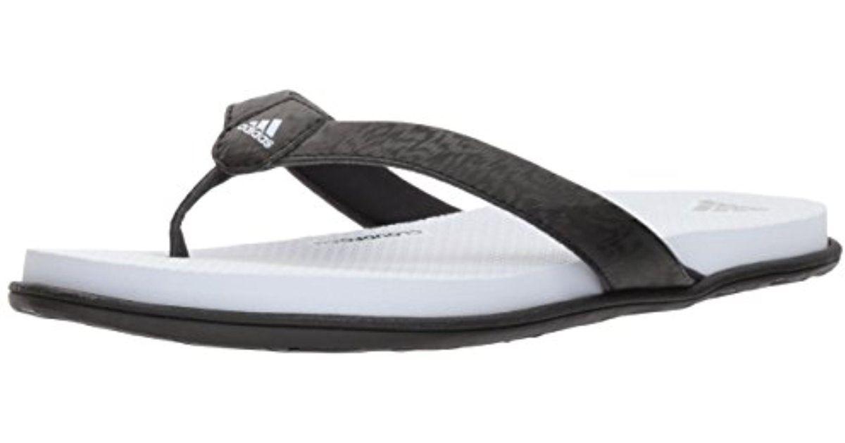 Lyst - adidas Cloudfoam One Y W Flip-flop in Black eb7d6ec5572