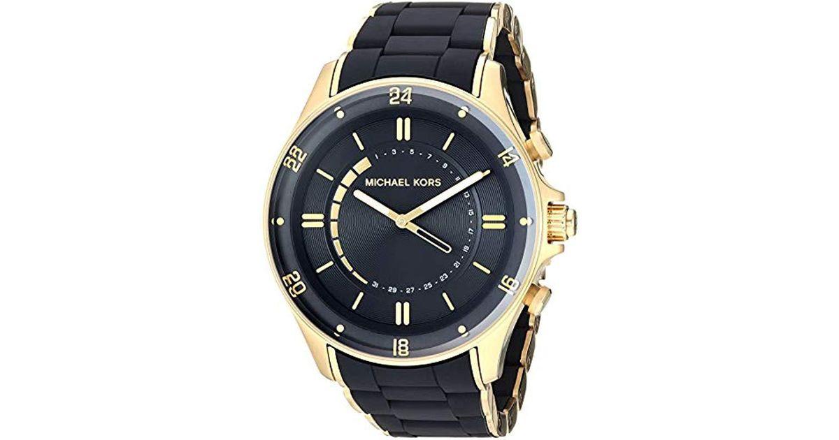 cb25ac60c498 Lyst - Michael Kors Reid Black Hybrid Smartwatch in Black for Men