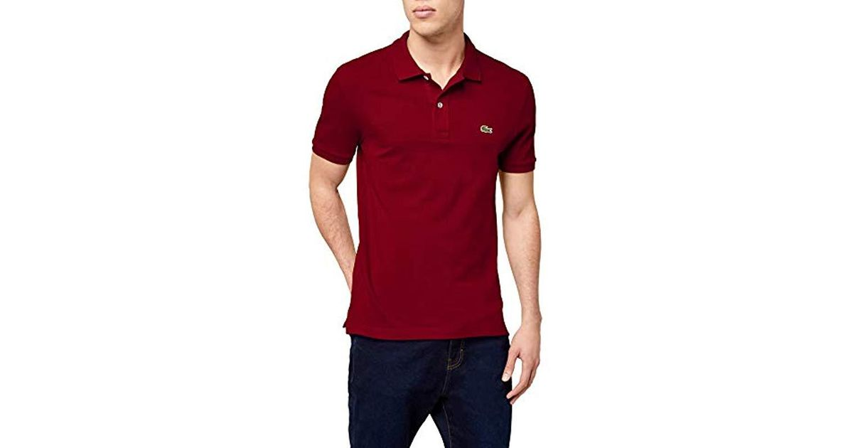 c06d237f094 Lacoste Polo Shirt in Red for Men - Lyst