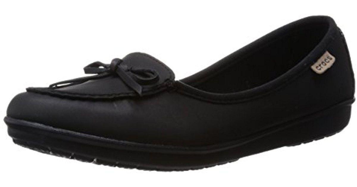 fc3d1a000 Lyst - Crocs™ Wrap Colorlite Ballet Flat in Black