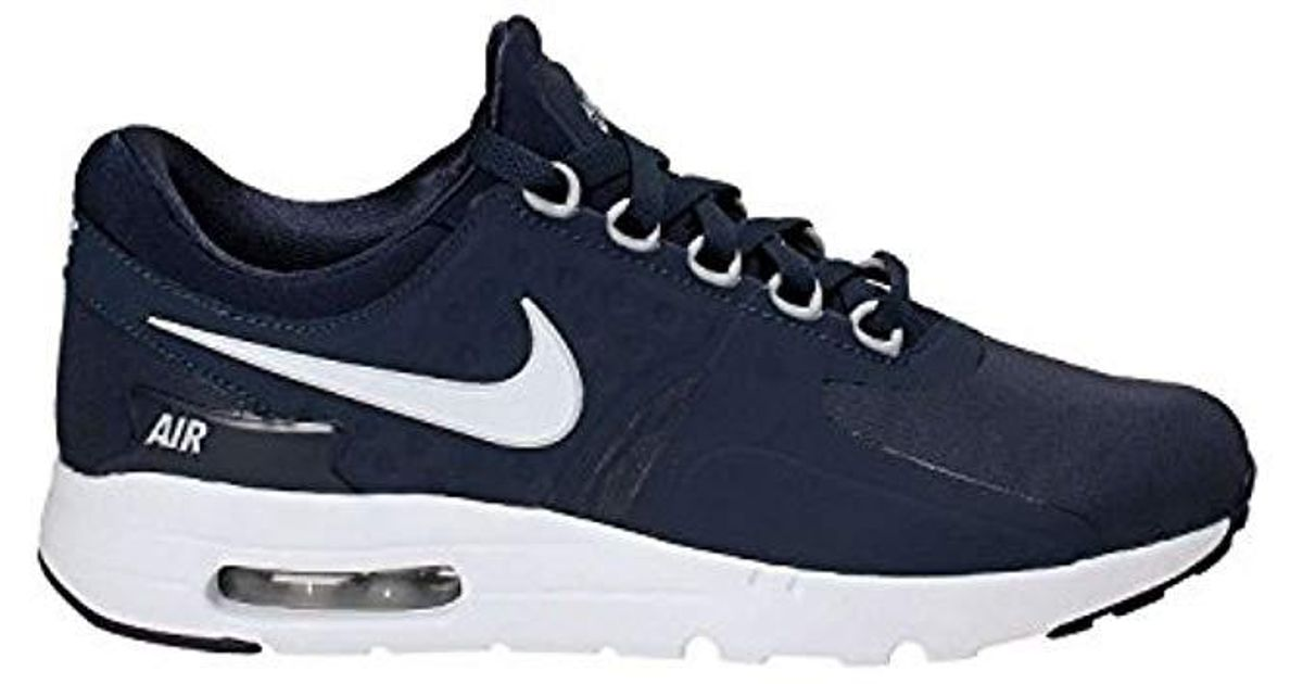 hot sales 91092 b3bc0 Nike Air Max Zero Essential Trainers in Blue for Men - Lyst