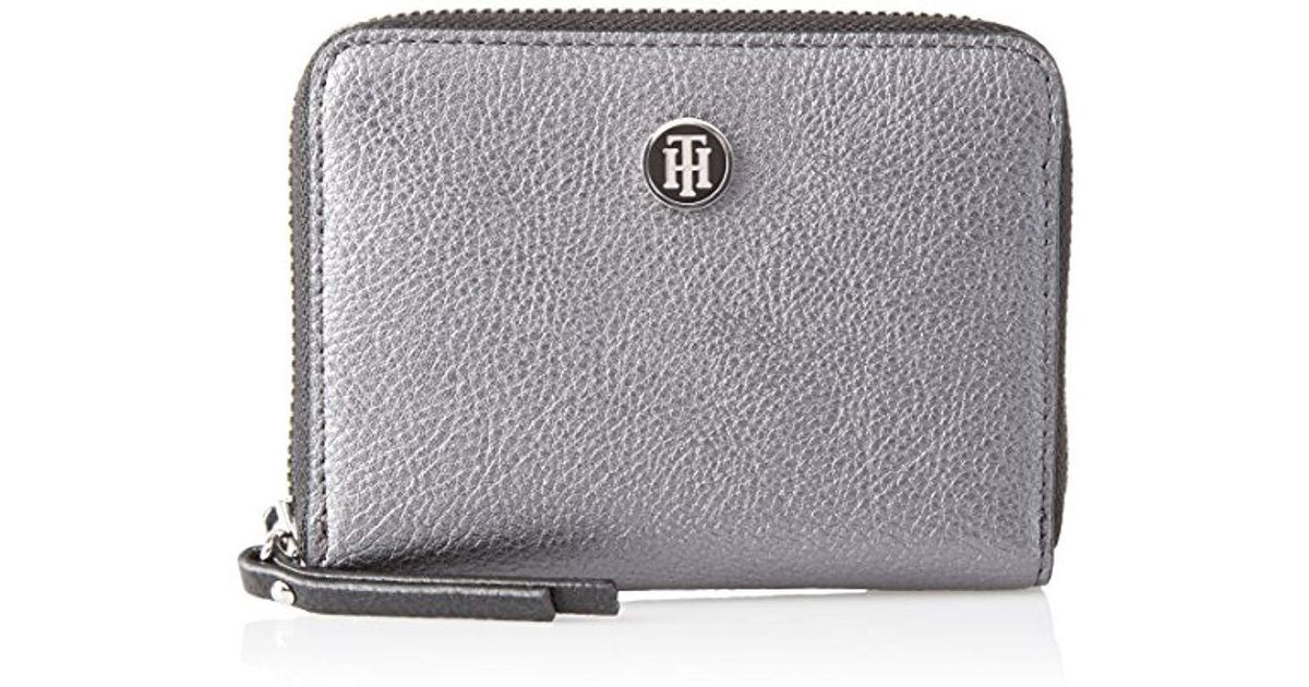 27e28268a45 Tommy Hilfiger S Effortless Novelty Comp Za Wallet Purse in Gray - Lyst