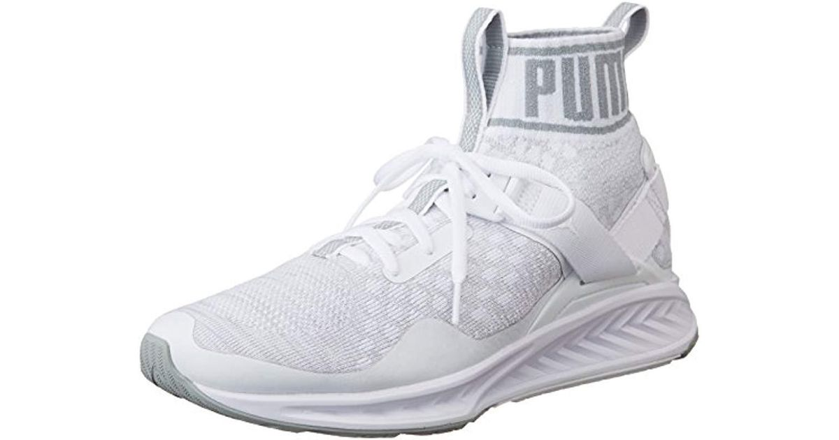 07cb558498de3d PUMA Unisex Adults  Ignite Evoknit Competition Running Shoes in White for  Men - Lyst