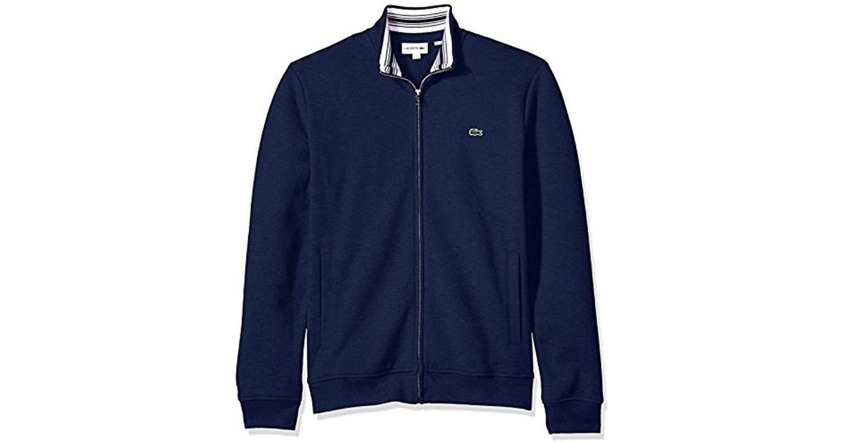 Lacoste Men/'s NEW Cotton Blend Full Zip Long Sleeve Front Pockets Hoodie Jacket