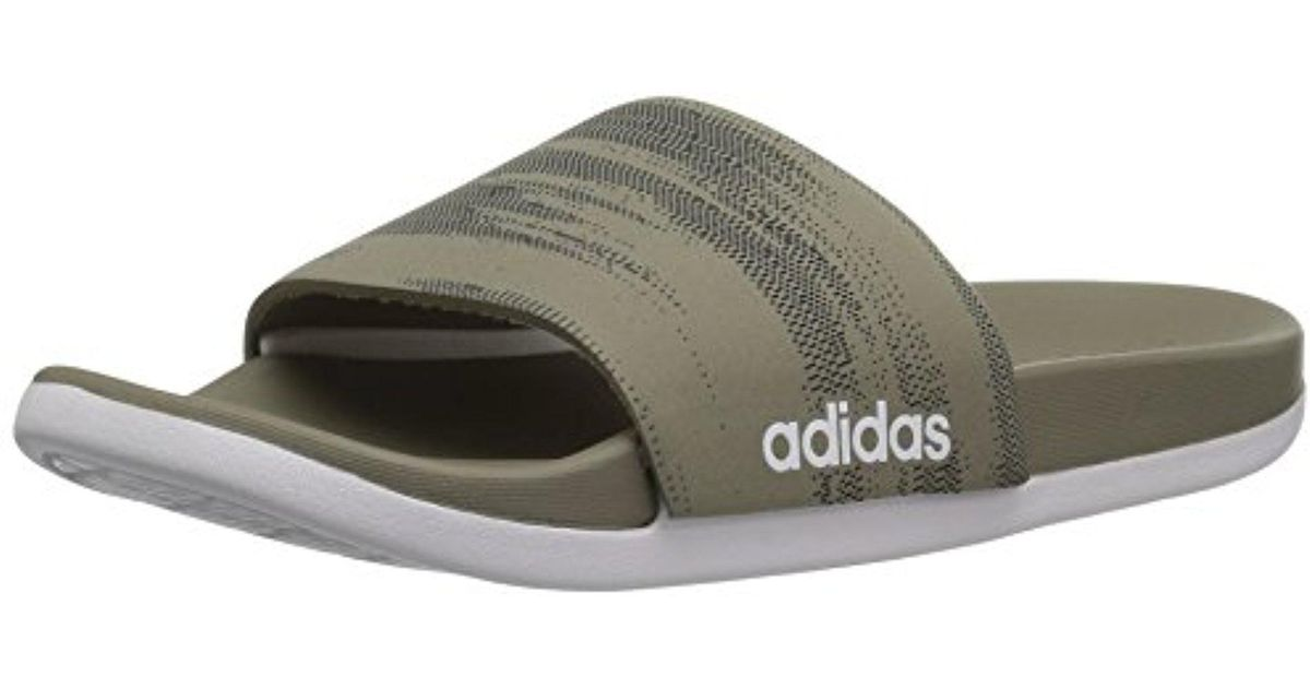 541a9533 adidas Originals Adidas Adilette Cf+ Link Gr Slide Sandal, Core  Black/white/core Black, 11 M Us in Black for Men - Lyst
