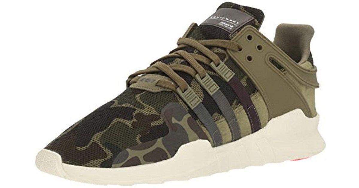 881517af70e5 ... discount lyst adidas originals adidas eqt support adv fashion sneaker  in green for men 63e51 0f88c