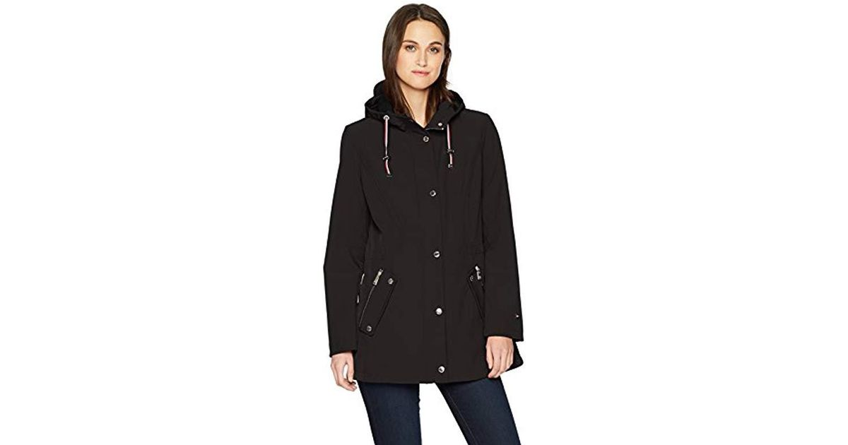 55938fa61 Lyst - Tommy Hilfiger Water Repellant Hooded Anorak in Black