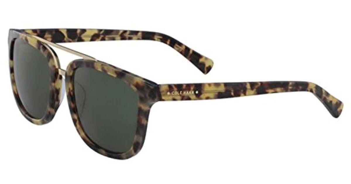 fd1d1463b93 Lyst - Cole Haan Ch6012 Plastic Square Sunglasses