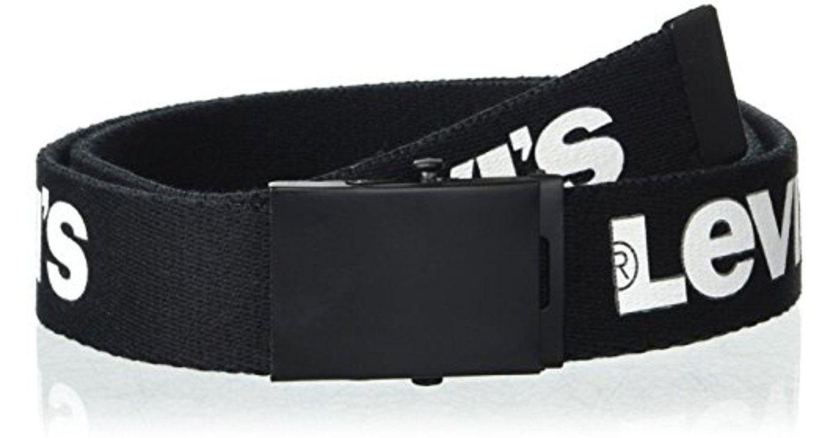 Lyst - Levi s Military-style Web Belt in Black for Men e7b30c36905