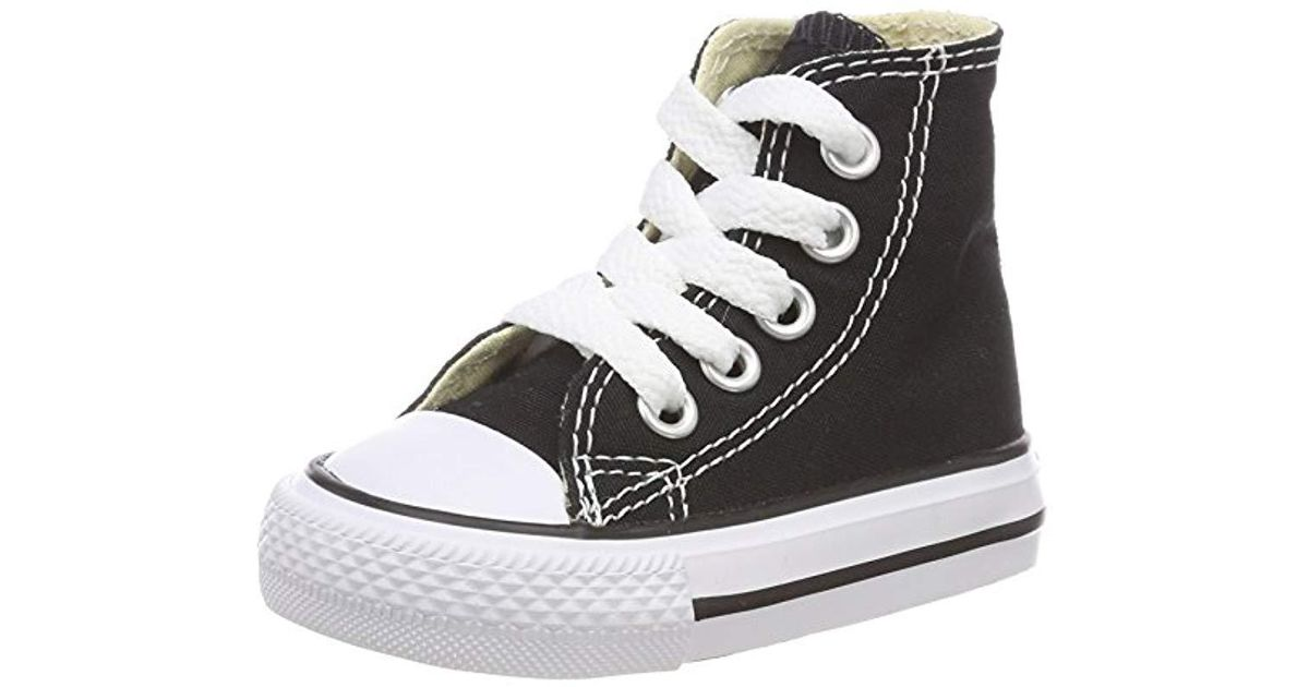 00df762e7994 Converse Unisex Babies  Chuck Taylor Inft C t Allstar Hi Canvas Slippers in  Black - Lyst