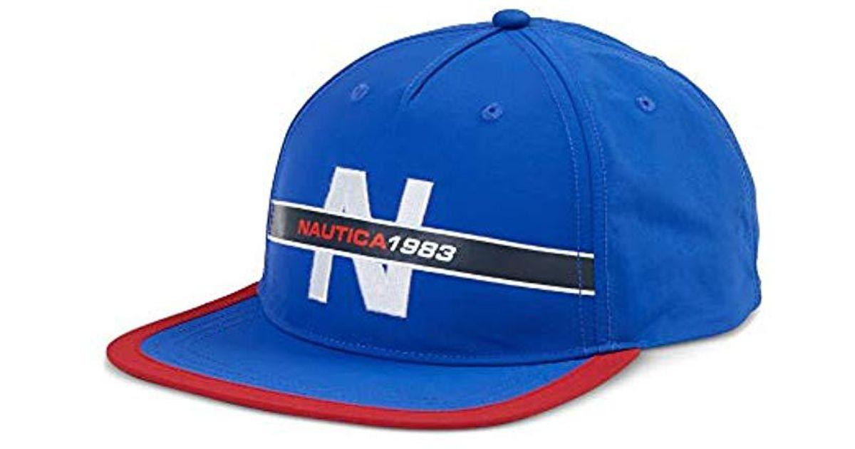 23533f16eed855 Lyst - Nautica Classic Heritage Logo Baseball Cap Hat in Blue for Men