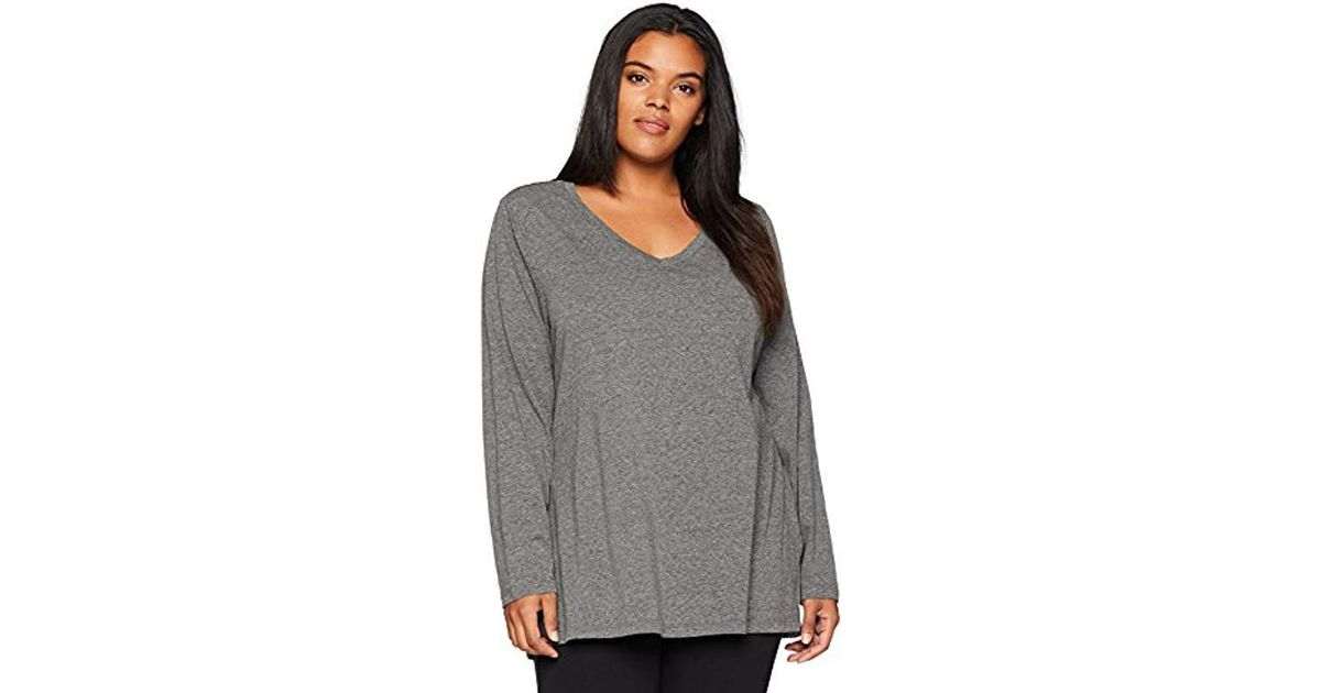 00b31ab9 Lyst - Danskin Essential Long-sleeve T-shirt in Gray