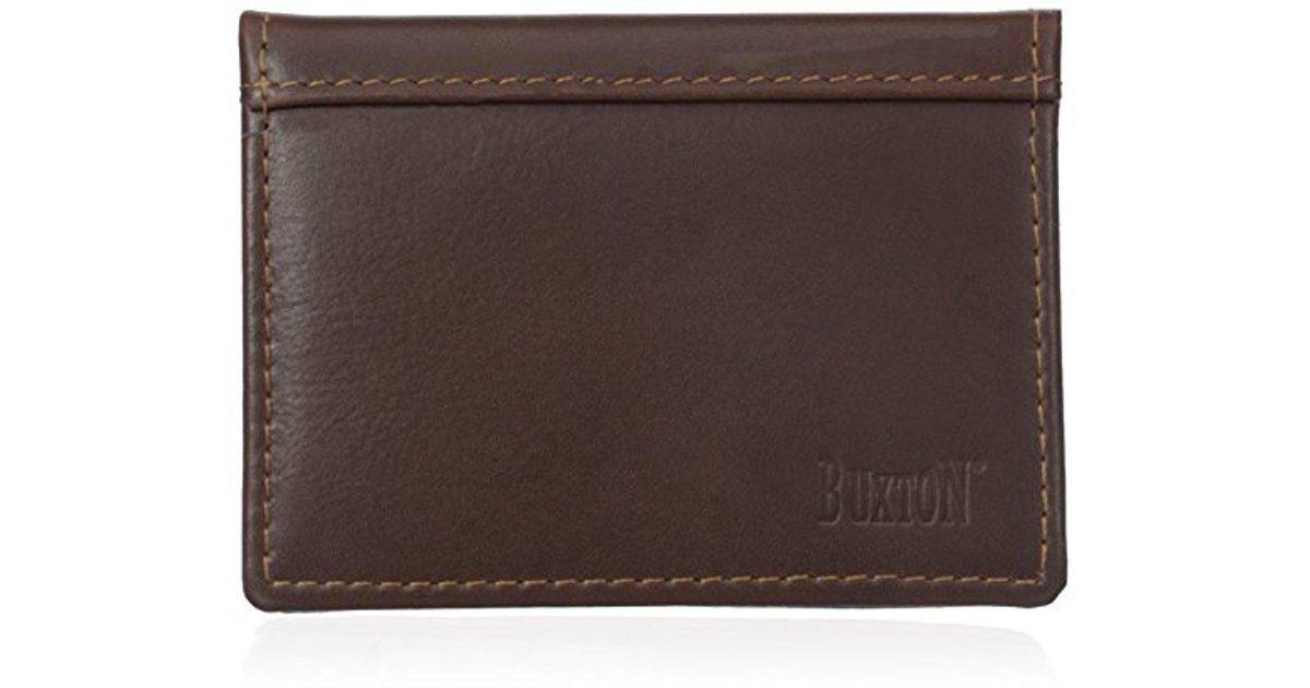 Lyst buxton sandokan business card holder in brown for men colourmoves
