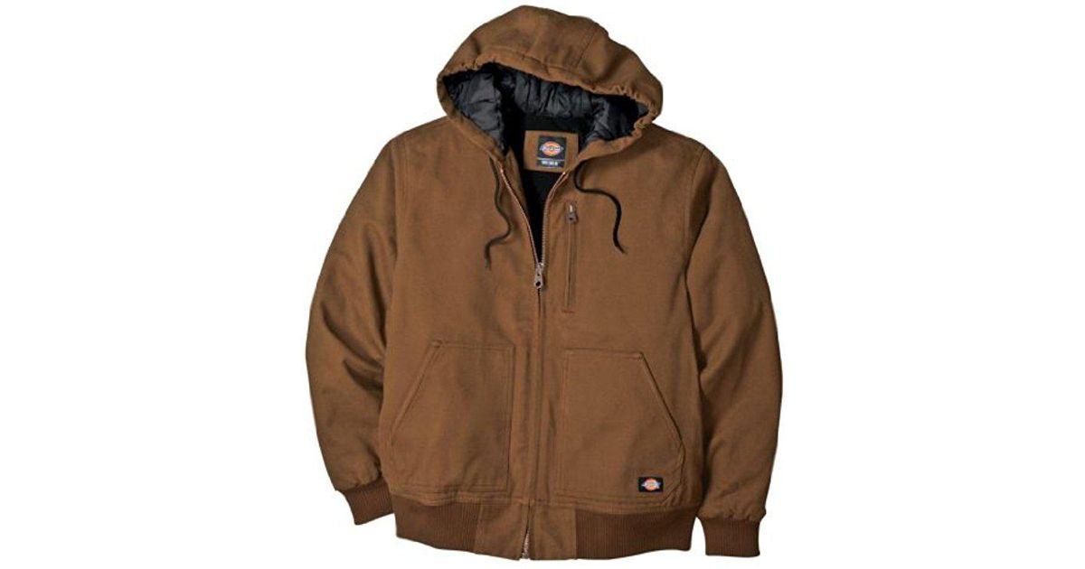 2a657fc4b50f Lyst - Dickies Sanded Duck Hooded Jacket Big-tall in Brown for Men - Save  56%