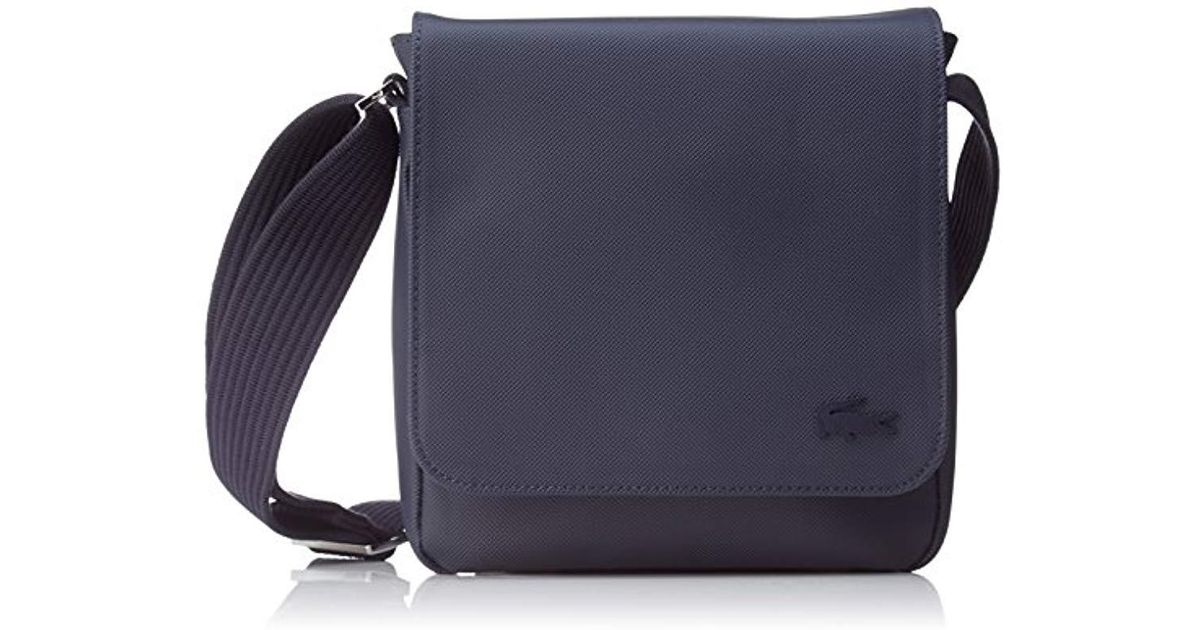 sneakers in stock how to buy Lacoste Blue S Sac Homme Access Premium Shoulder Bag for men