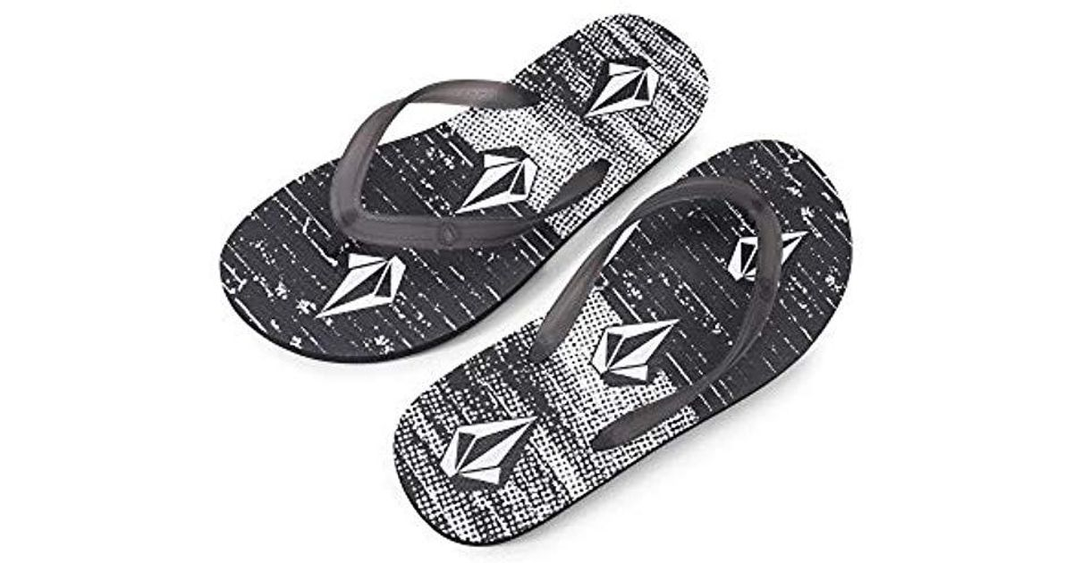 1bdefdee6c92ba Lyst - Volcom Rocker 2 Graphic Print Flip Flop Sandal in Black for Men