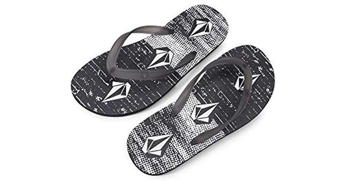 1bdefdee6c92ba Lyst - Volcom Rocker 2 Graphic Print Flip Flop Sandal in Black for Men